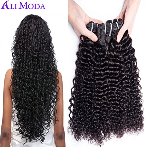 Ali Moda Deep Wave Curly Hair 3 Bundles 100% Unprocessed Per