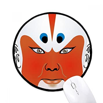 DIYthinker Máscara de la ópera de Pekín colorido Qunyinghui Ronda antideslizante tapetes de ratón Negro Titched