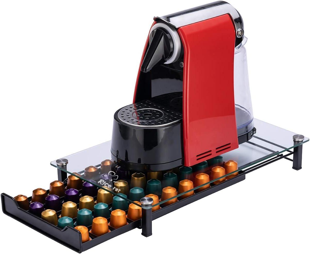 Coffee Pod Holder For Nespresso Capsule Storage Coffee Filter Holder Dispenser Coffee Capsule Dispensing Tower Stand Black