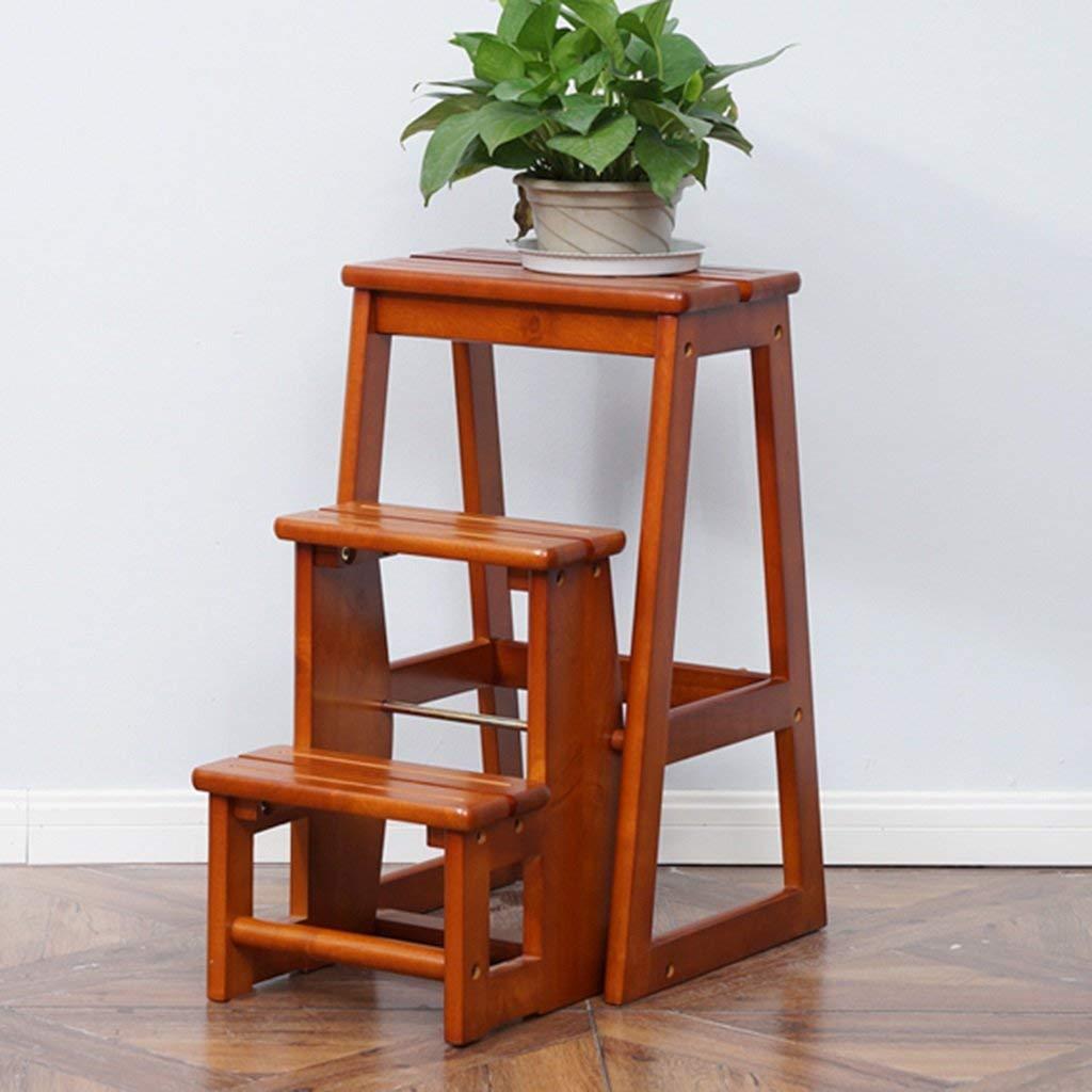 Perchero Taburete de escalera de madera de goma de doble uso ...