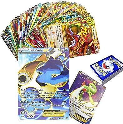 100 Piezas Pokemon Tarjetas coleccionables Traje 80EX+GX20 Juego ...