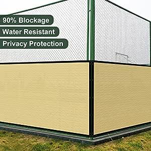 Coarbor Malla de privacidad para Valla de 4 x 1 pies con Ojales de latón de 140 g/m² Resistente Patio Trasero Exterior y terraza, tamaños Personalizables Disponibles