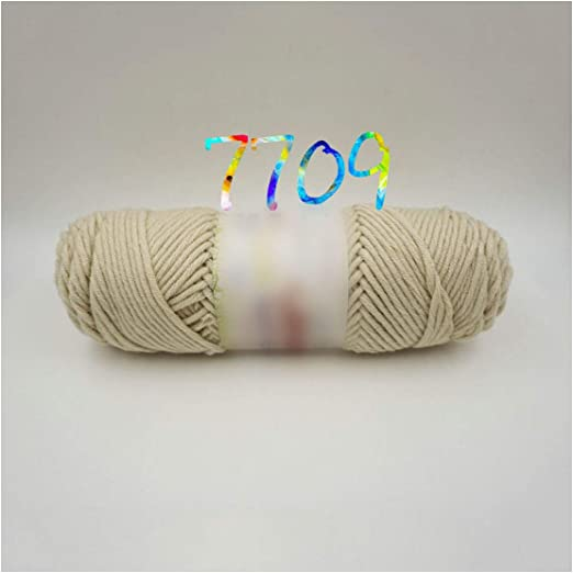 Algodón de leche natural 3 mm de hilo grueso para tejer hilo de ...
