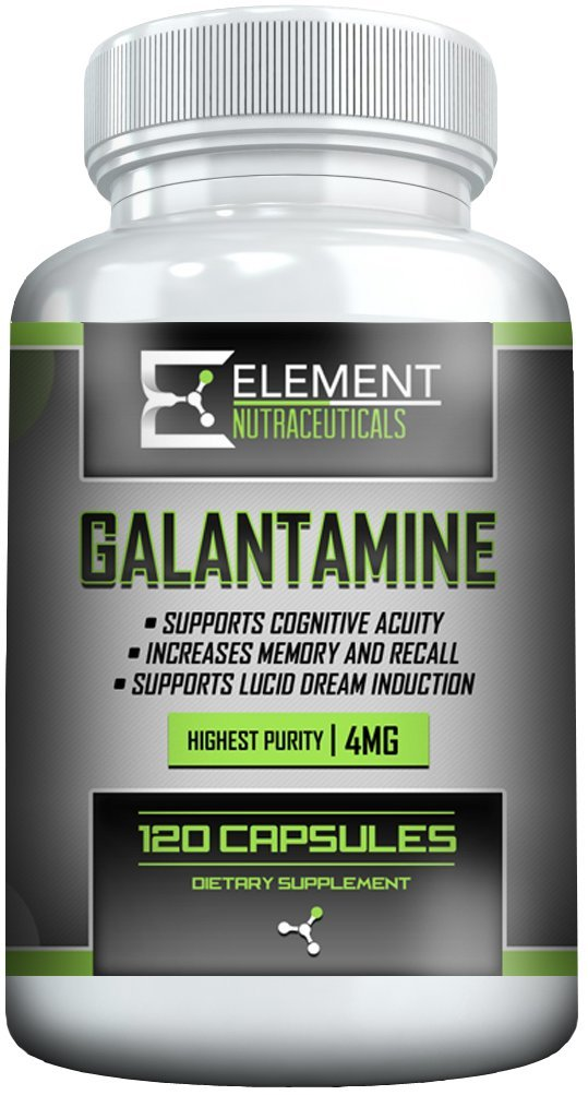 GALANTAMINE (120ct x 4mg) by Element Nutraceuticals by Element Nutraceuticals