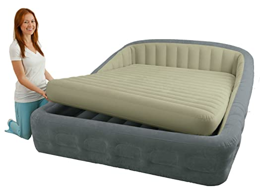 Intex Luxury fort Frame Queen Size Airbed with Electric Pump