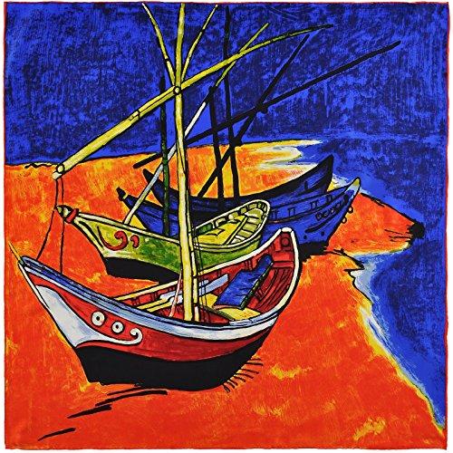 Van Barcas Gogh Silkart pesca de cm cuadradas 85x85 wr6qtrRSHW