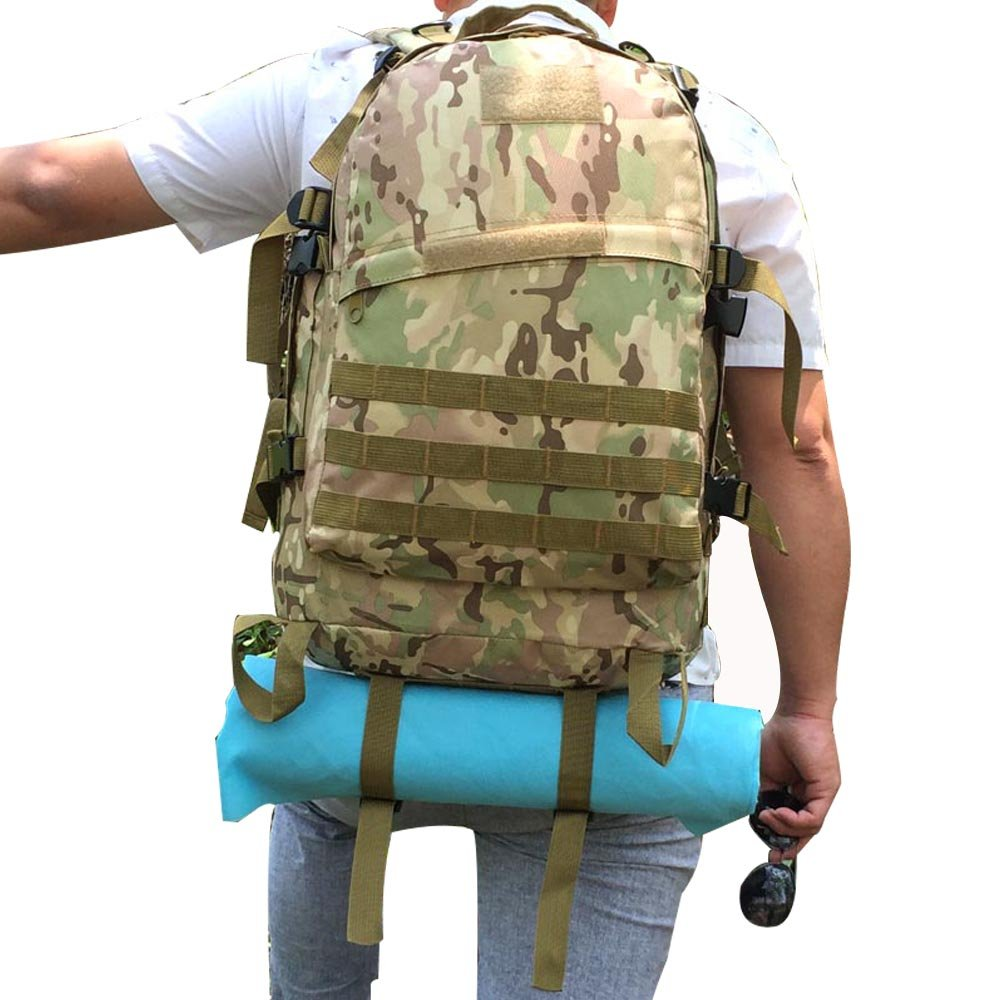 coollifes Army Assault Pack MOLLEバックパックバグアウトバッグ3 Day Military Tactical Rucksack Laptop Daypack Largeアウトドアトレッキングキャンプハンティングハイキング40l防水  CP B071HP4624