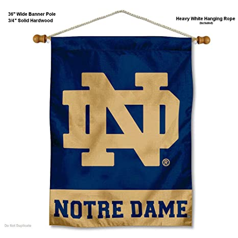aa00bb5db38 Image Unavailable. Image not available for. Color: College Flags and  Banners Co. Notre Dame Fighting Irish ...