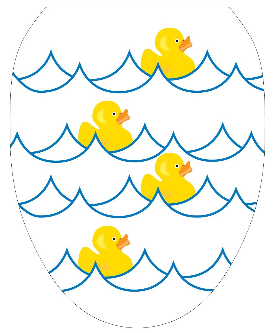 Toilet Tattoos TT-4000-O Rubber Ducky White Decorative Applique for Toilet Lid, Elongated by Toilet Tattoos