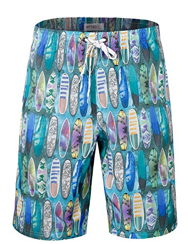 APTRO Men's Swim Trunks With Pockets Beach Hawaiian Shorts DZSK HW017 XL (Shorts Hawaiian Surf)