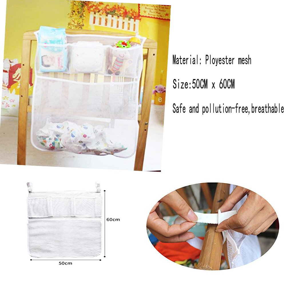 Hang on Crib Wall Hanging Diaper Organization for Baby Essentials Suitable for Baby Car Nursery Organizer and Baby Diaper Caddy Toy Diaper Pocket Crib Bedding Set kangbaobei 455 Table Bed Hanging Storage Bag
