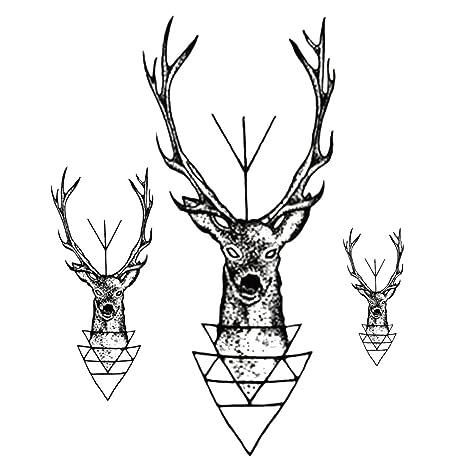 Amazoncom Joylive Waterproof Temporary Tattoo Sticker Elk