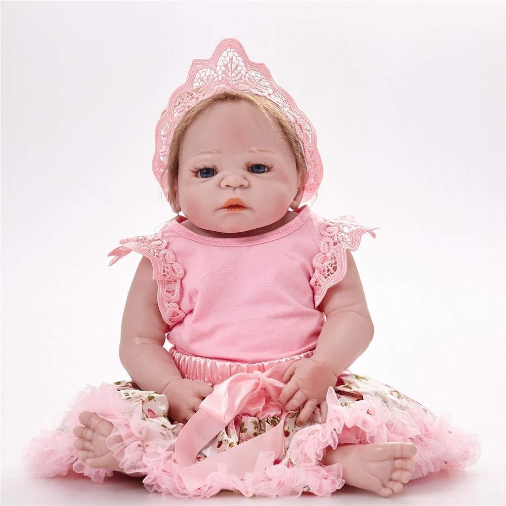 Hongge Reborn Bambola,Regalo di Compleanno di Giocattoli per Bambini realistica Bambola Giocattoli realistici Principessa Bambini 58cm