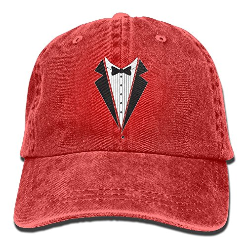 BCOWBONEOWGDF Basic Tuxedo Stretch Fit Unconstructed Mens Personalized Headgear Stetson Adults Gifts Red ()