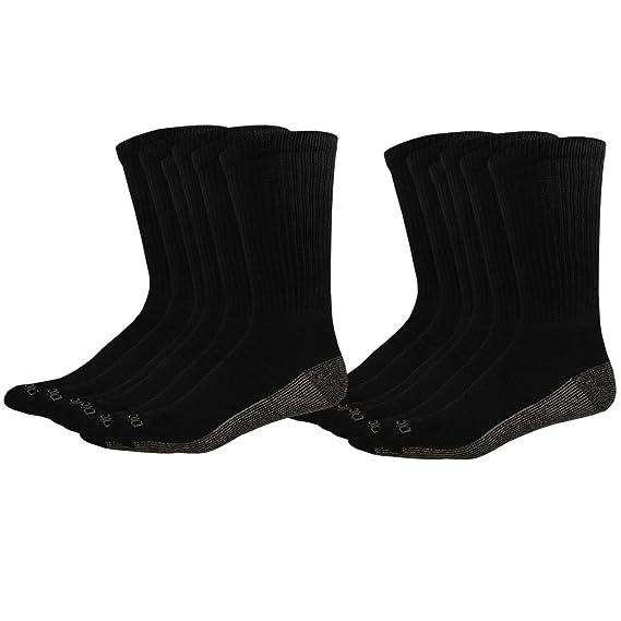 Dickies Mens 6 Pack Dri-Tech Comfort Crew Socks