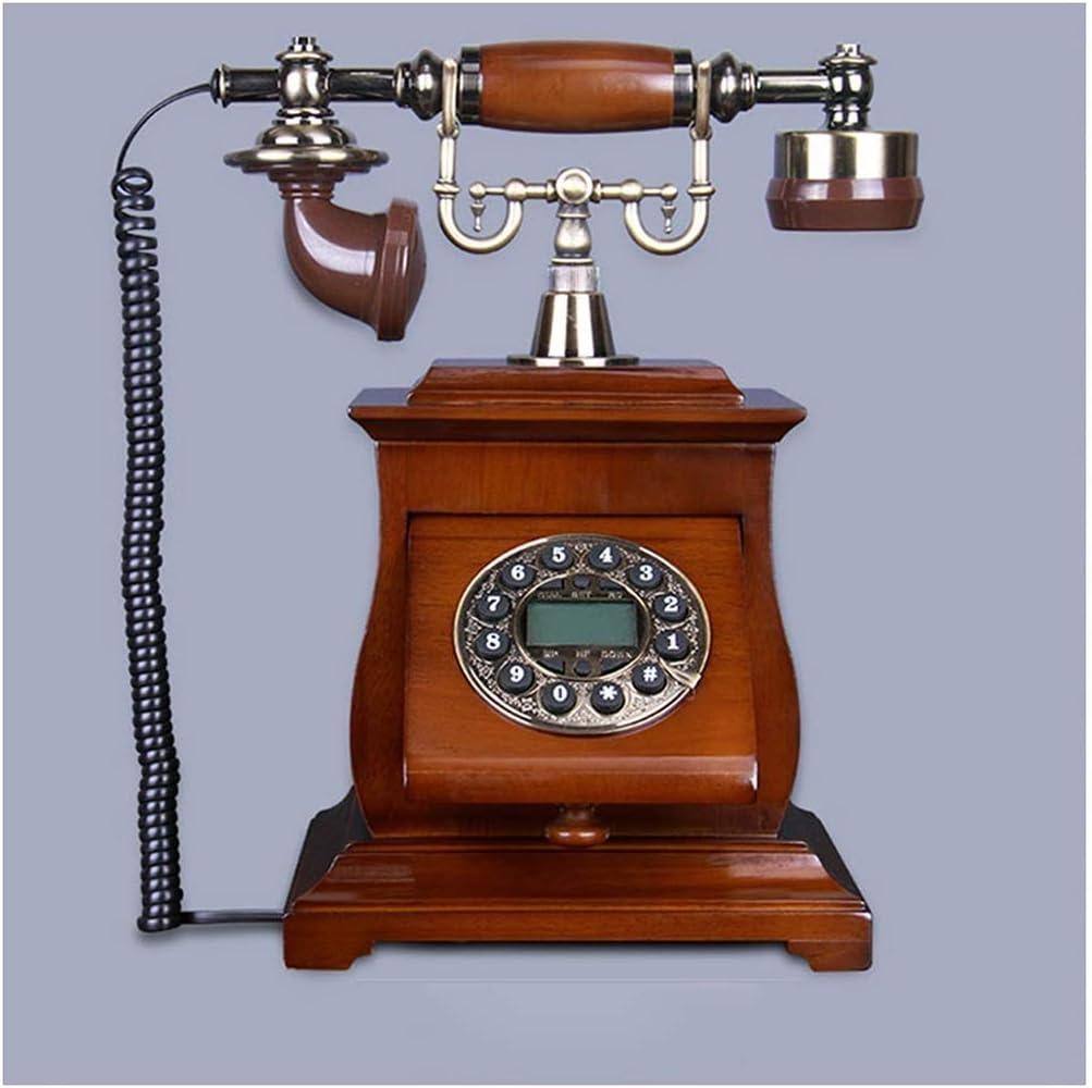 Telefono Retro Hogar Antiguo Europeo Madera Maciza Vintage Antiguo ...