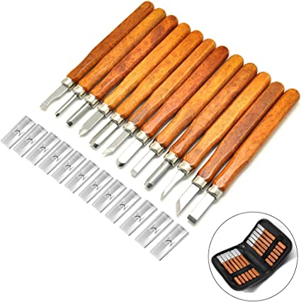 Small Pumpkin Wood Carving Tools Set SK2 Carbon Steel Wax /& Wood Carving Tools for Rubber Soap Vegetables /& More For Kids /& Beginners 12pcs Wood Carving Kit