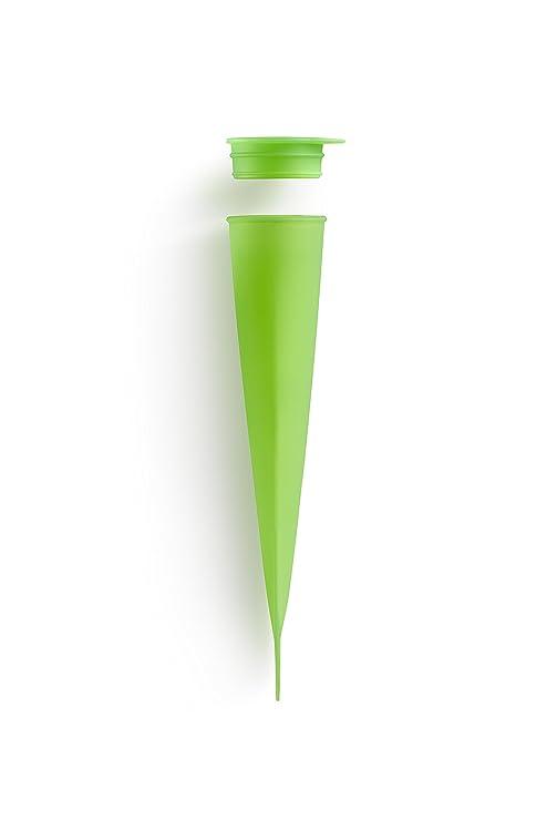 Lékué - Molde de silicona con tapa para helado, una unidad, color verde