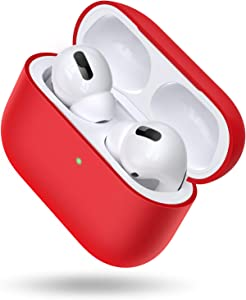 TORRAS [Love Series] Upgraded AirPods Pro Case Silicone [Anti-Scratch] Protective Case for Apple AirPods Pro 2019, Red