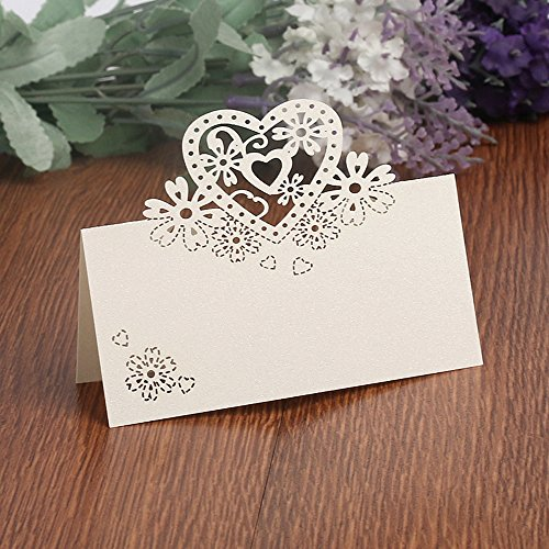 T-shin 50PCS Wedding Guest Name Place Cards