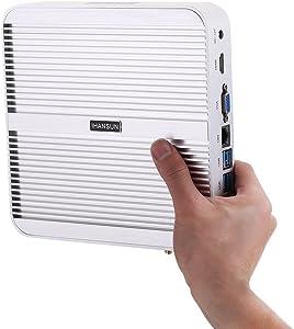 Fanless Mini PC,Desktop Computer,HTPC,Kodi Box,Intel Core I5 7200U,[HUNSN BM01],[64Bit/WiFi2.4+5Ghz/VGA/HDMI/4USB3.0/2USB2.0/LAN](Barebone,NO RAM, NO Storage,NO System)