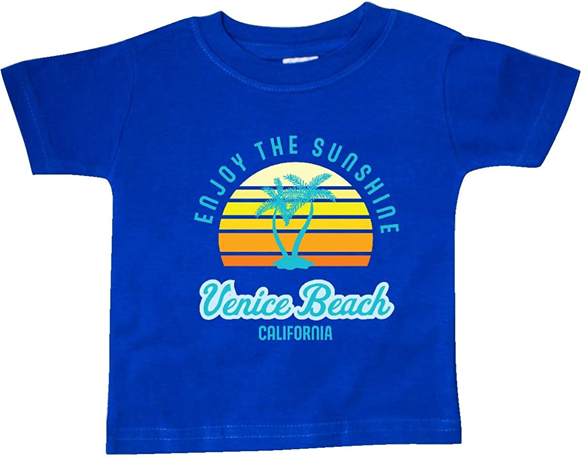 inktastic Summer Enjoy The Sunshine Venice Beach California in Blue Baby T-Shirt