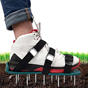SEALUXE Lawn Aerator Shoes, Grass Aerator Shoes for Grass, Spike Lawn Aerator Sandals, Garden Spike Shoes, Lawn Aerator Spike Shoes, Yard Aerator Shoes, One-Size-Fits-All for Yard Patio Lawn Garden