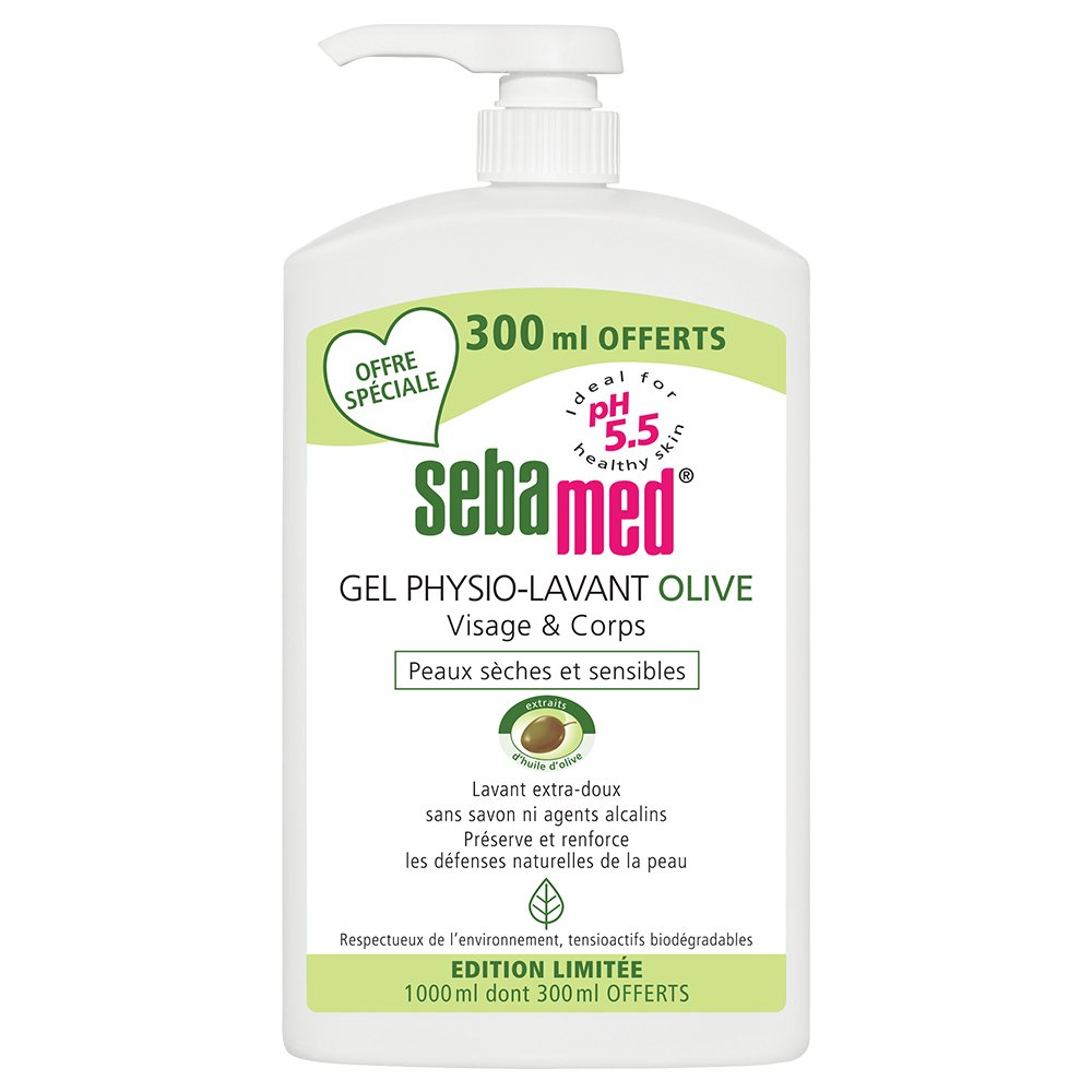 Sebamed Gel Physio Lavant Olive 1l Dont 300ml Offerts Liquid Face And Body Wash 1000 Ml Beauty