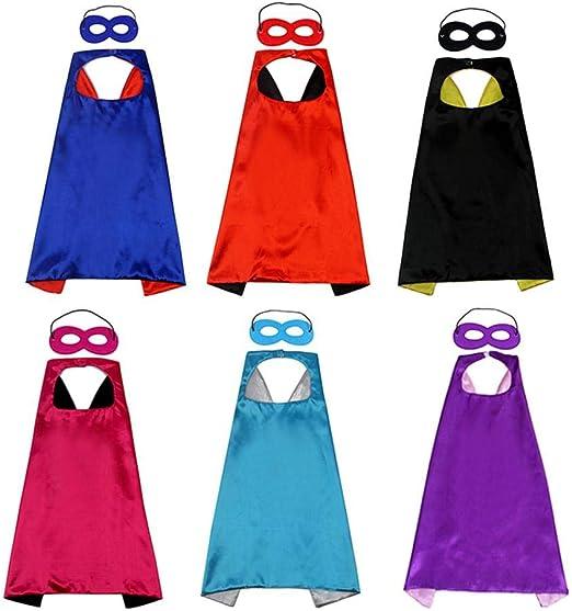 Hamkaw Capas Superheroes Niños, Disfraz de Cumpleaños de 6 Capas y ...