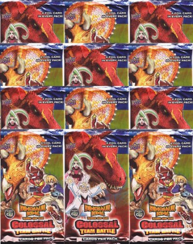 (Dinosaur King Twelve Colossal Team Battle Booster Packs Containing 5 Cards Per Pack (60 Total)