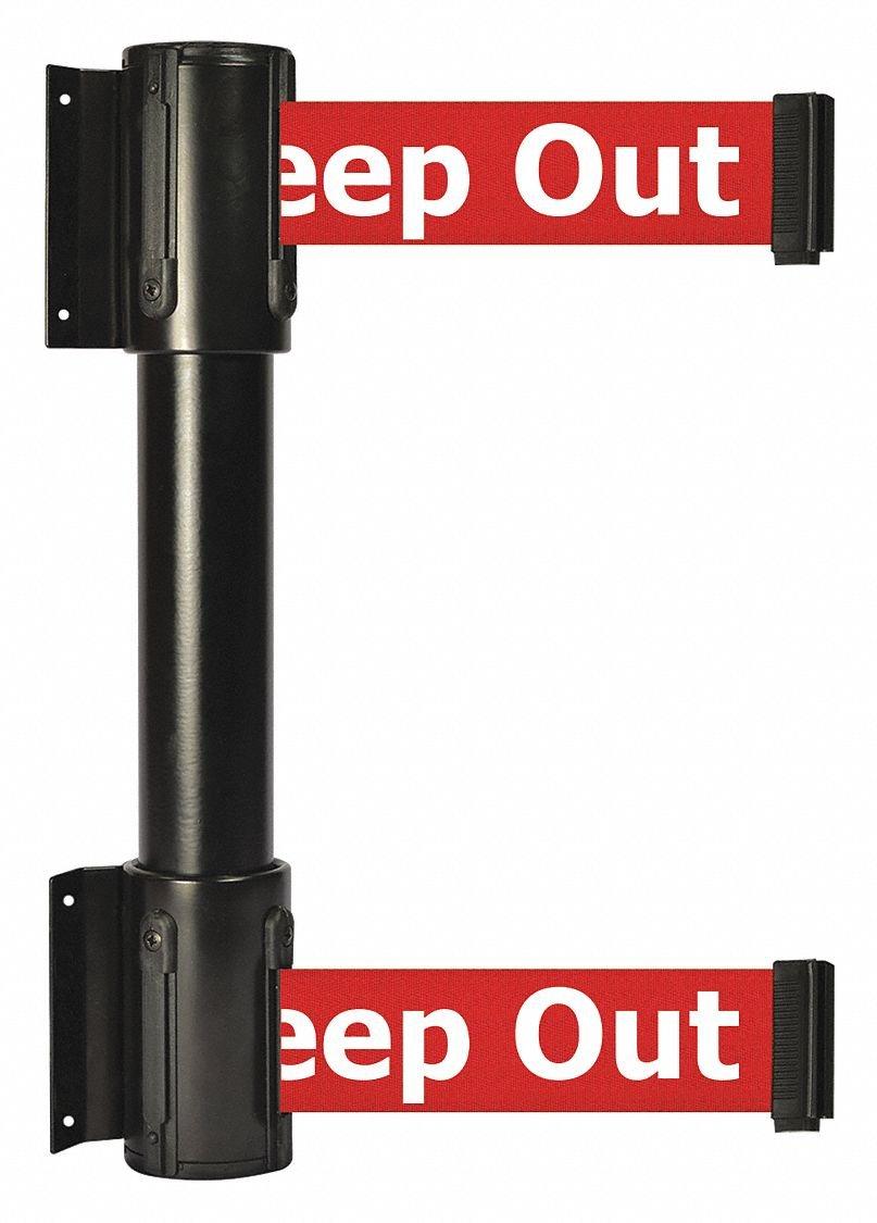 Belt Barrier,13 ft,Danger - Keep Out by TENSATOR