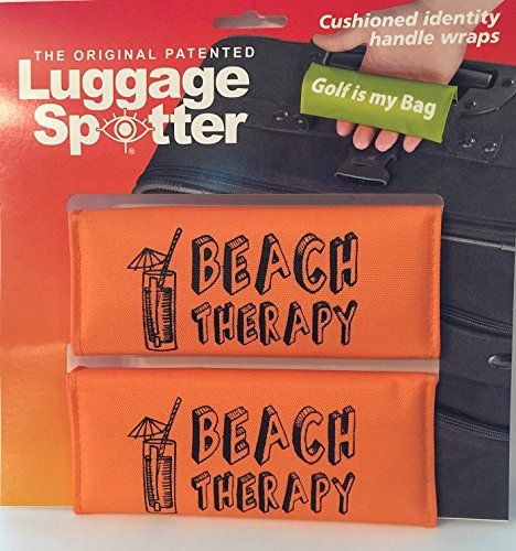 Luggage Spotter BUY ONE GET ONE FREE (Orange) BEACH THERAPY Luggage Locator/Handle Grip/Luggage Grip/Travel Bag Tag/Luggage Handle Wrap (4 PACK) – GREAT GIFT! by Luggage Spotter