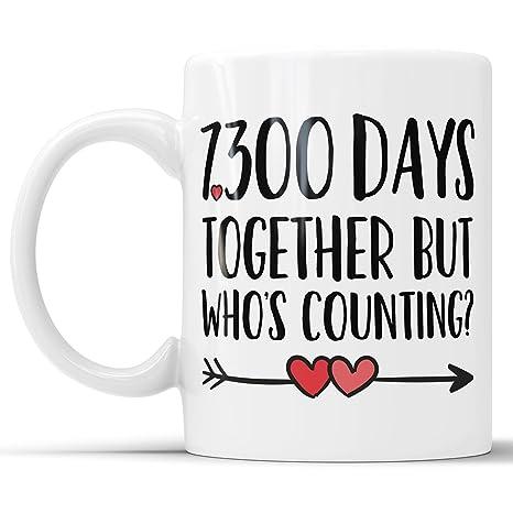 Amazon 20th Anniversary Coffee Mug 7300 Days Together But