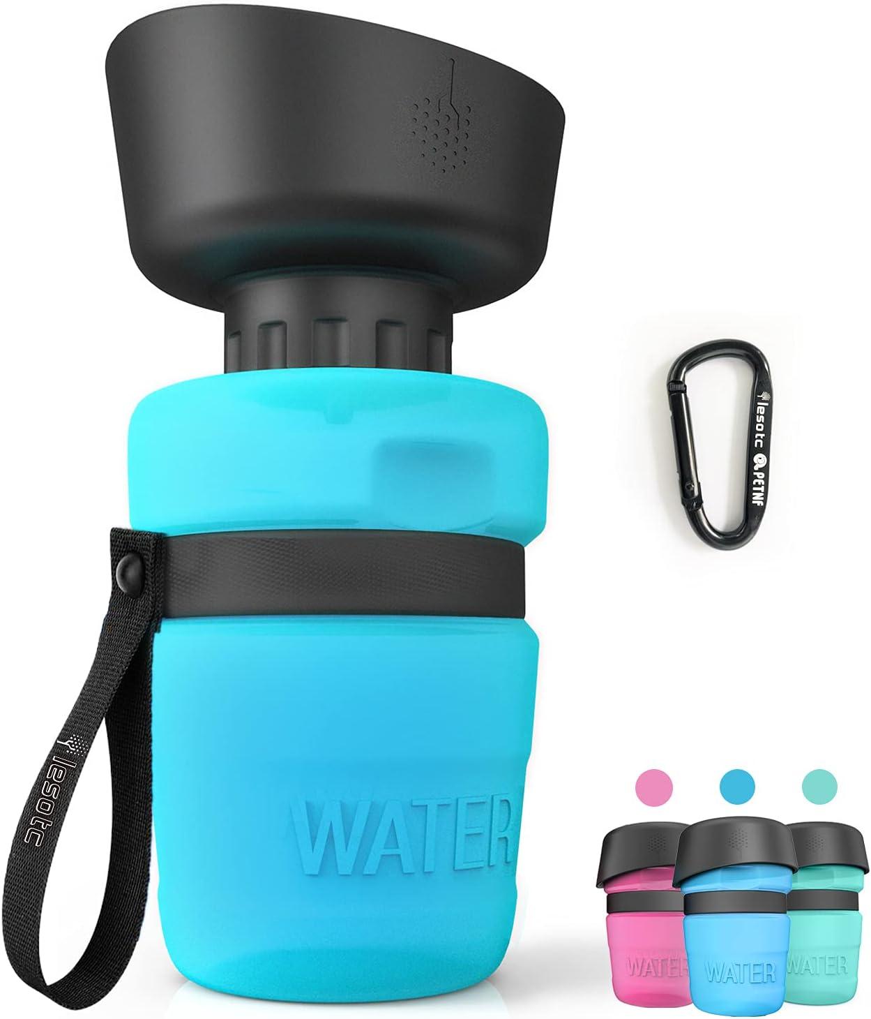 lesotc Foldable Leak-Proof Pet Water Bottle for Dogs