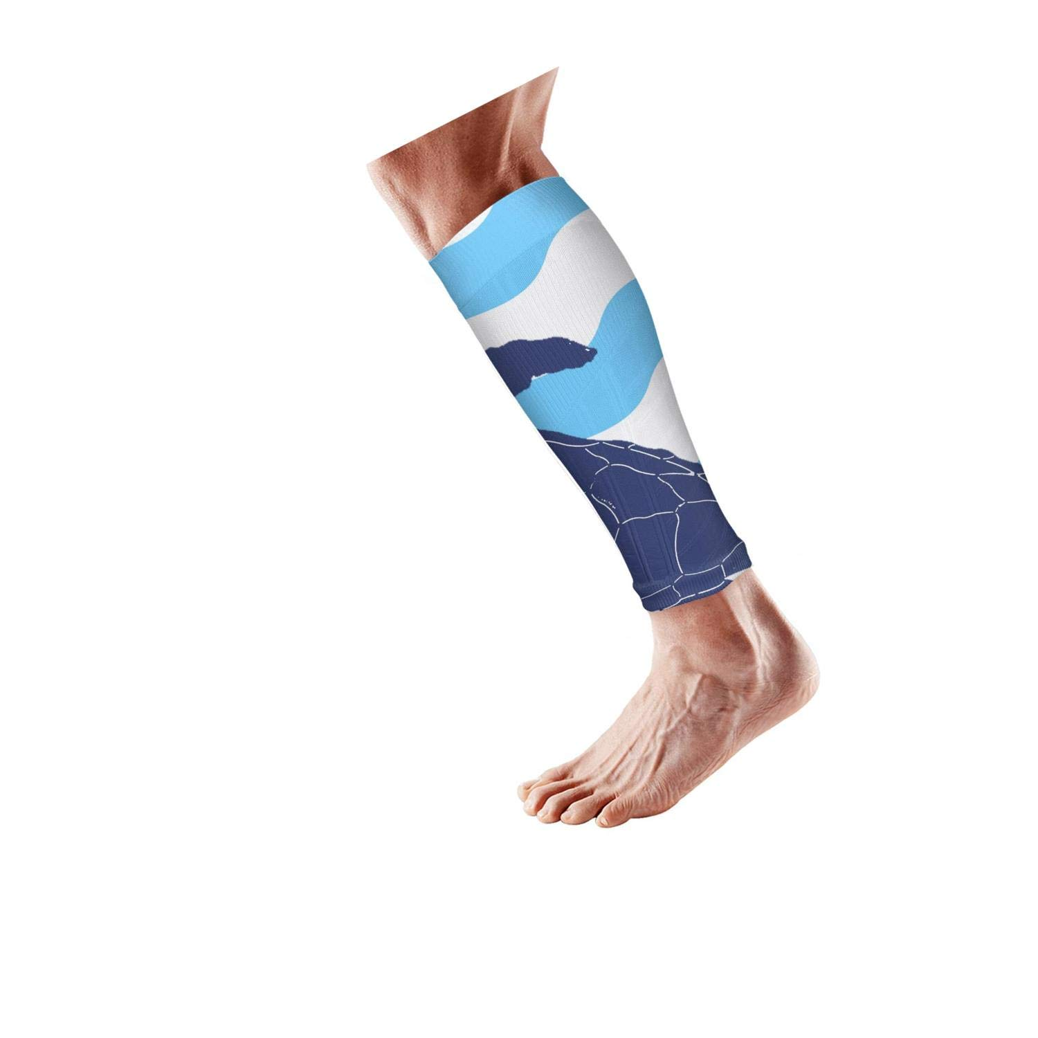 Smilelolly Psychedelic Music Calf Compression Sleeves Helps Faster Recovery Leg Sleeves for Men Women