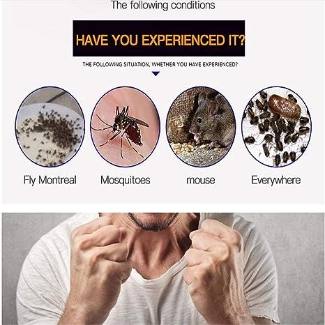 Repelente Ultras/ónico Mosquitos Electr/ónico Repelente Mosquitos Control de Plagas para Mosquitos Moscas 6 Ara/ñas Ratas y Ratones Cucarachas Repelente Ultras/ónico de Plagas Hormigas