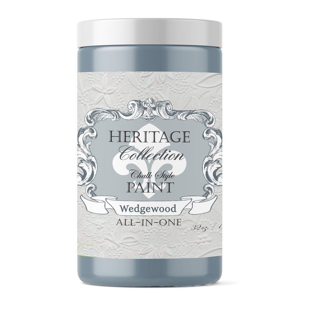 Wedgewood Blue, Heritage Collection All In One Chalk Style Paint (NO WAX!) (32oz)