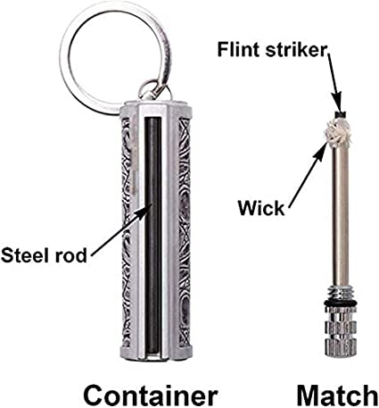 LUCKKY 2PCS Dragon/'s Breath Immortal Lighter Fuel Not Included Metal Keychain Flint Match Stick Kerosene Refillable Lighter,Waterproof for Outdoor Camping Hiking,Ideal