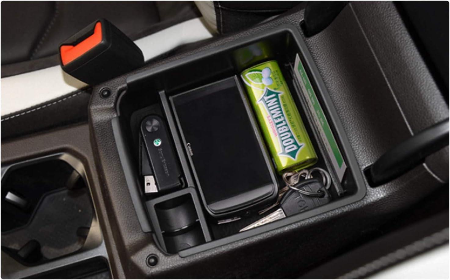 YEE PIN Consola central SEAT Tarraco 2019 Guantera para reposabrazos Organizador Caja con alfombrilla antideslizante Accesorios de coche