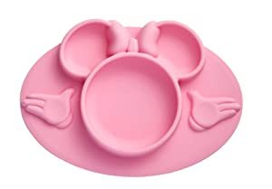 The First Years Disney Minnie Mouse Silicone Placemat, Pink