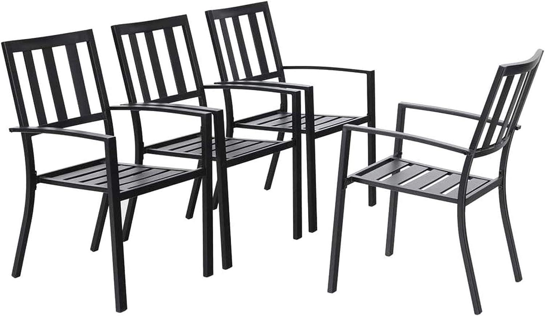 Trend Garden Chairs Black Metal
