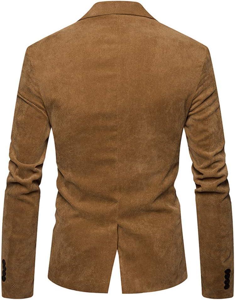 Daoroka Men/'s Autumn Winter Warm Dress Suit Jacket Coat Casual Corduroy Slim Long Sleeve Blazer Tops Blouse