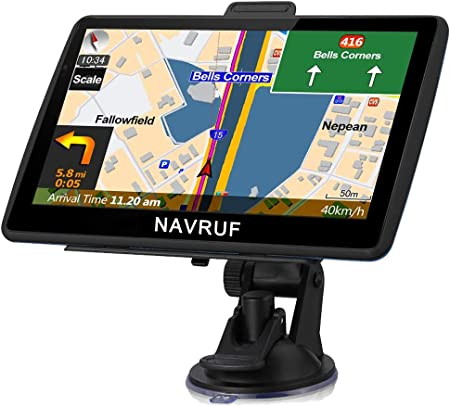 Amazon Com Navruf Gps Navigation For Car 7 Inch With High Resolution Touch Screen Real Voice Direction Vehicle Gps Navigator Lifetime Map Updates Gps Navigation