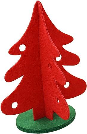 30CM Adornos de Navidad Mesa Arbol de Navidad Nevado Adornos Navideños Tela Decoraciones Navideñas,Verde-30Cm-Blisfille: Amazon.es: Hogar