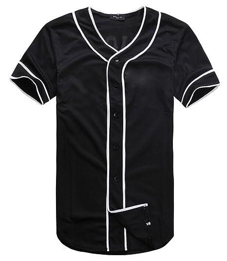 ddd5de51a42 Amazon.com  JUNG KOOK Mens Hipster Hip Hop Baseball V-Neck Short ...
