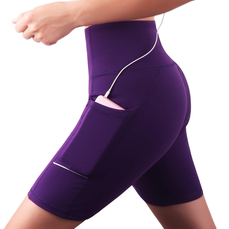 Fitness Mallas Deportivas GRAT.UNIC Pantal/ón Corto Deportivo para Mujer Running Pantalones Cortos de Yoga con Bolsillo Lateral