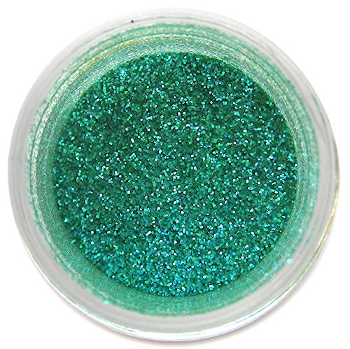 Emerald Glitter Dust, 5 gram container