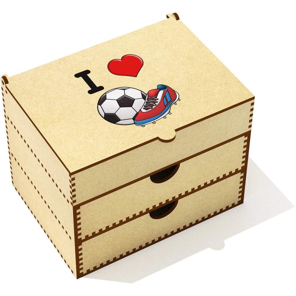 Stamp Press 'I Love Football' Vanity Case / Makeup Box (VC00000024)