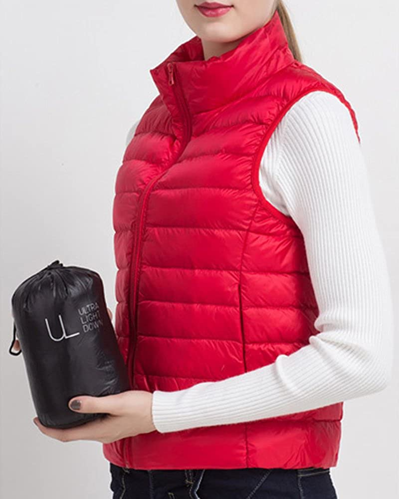 ZhuiKun Womens Padded Gilet Lightweight Vest Hiking Body Warmers