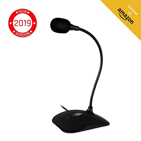 ⭐️KLIM Talk - USB Desk Microphone for Computer - Compatible with any PC,  Laptop, Mac, PS4 - Professional Desktop Mic with Stand - Recording,